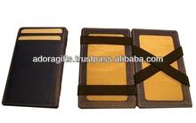 ADAGW - 0266 handmade leather mens wallets / design your own leather mens wallets / magic wallets for mens