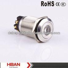 CE ROHS screw terminal dot- illumination push button switch