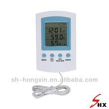 Digitale in/esterno termo- igrometro con orologio e tempo