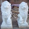 Outdoor decorative marble lion statue