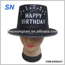 new design top sequin happy brithday hat