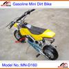 "Kids Cross Kids Mini Dirt Bike MN-D160 2 stroke 49cc Pull Start Max Speed 60km/h with 10"" rubber wheel"