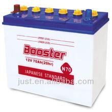 Japan Standard 12V70Ah Dry Cell Lead acid automotive car battery