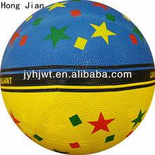 colorful stars basketball no. 6