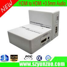 plastic case hdmi to hdmi with audio converter box