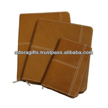weekly 2015 planner / fancy planners organizers / day planner brown leather covers