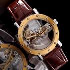 IK Luxury Retro Unique clear Skeleton Mechanical Watches Mans