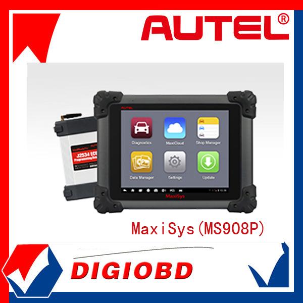 Autel scanner pro maxisys ms908p mondial. verion de systèmes de diagnostic pour toutes les voitures avec un an de mise à jour logicielle en ligne