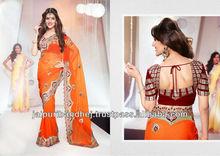 New Unique Party Wear Saree Bollywood Style Indian Saree Sari Shari 2013