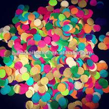 Colorful circle table confetti Round shaped confetti for party decor