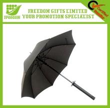 Fashional Style Black Samurai Sword Umbrella
