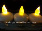 Yellow LED Submersible Vase Light Underwater Tea Light Candle Xmas