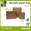 brown paper wine bags with twisted handle carrier bride groom paper bag