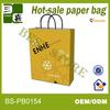 paper twisted handle carrier bag bride groom and brown wine paper bag
