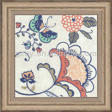 2014 butterfly and flower decoration picture,classical printed nature theme painting