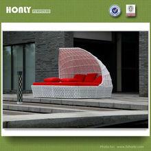 Modern hotel furniture cane sun bed