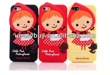 CUTE Little Red Riding Hood 3D silicon for iphone 4 case