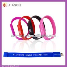 Promotional armband USB flash drives,customized logo bracelet USB flash drives ,cheap wrist cost USB flash drives