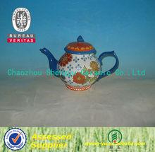 high quality ceramic tea pot in flower handpaint