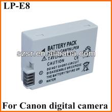 LP-E8 Battery for Canon EOS Rebel 550D Rebel T2i