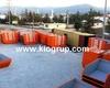 4 cbm Metal Garbage Skip container bin