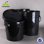 black Industry plastic pail 20l