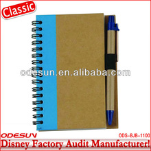 Disney factory audit manufacturer's recycled notebook
