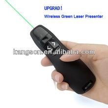 2014 New integrative wireless presenter green laser pointer
