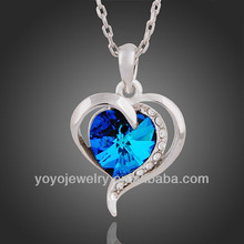 N677 2014 New arrival product blue titanic heart of ocean necklace