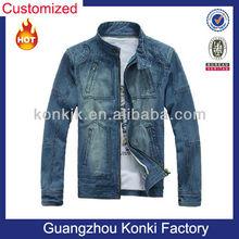 Fashion Korean men's denim winter jean jacket