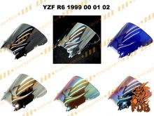 Aftermarket airflow double bubble PC windscreen windshield YZF R6 1998 01 03 05 06 08 12