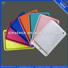 Soft silicon cover for ipad mini 2, for new ipad mini 2 soft silicon back cover case