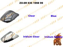 Aftermarket airflow double bubble DB PC plastic windshield ZX-6R 636 599 98 00 03 05 07 09 12