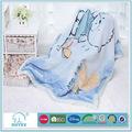 fábrica en china suavebuena impreso patrones de punto bebé manta de bebé de punto manta