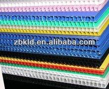 Corrugated sheet plastic