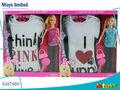 6487960-11.5inch sólido muñeca muñeca de moda con t- shirt
