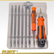 Telecommunication hand tools, spiral ratchet screwdriver, precision screwdriver set adb10
