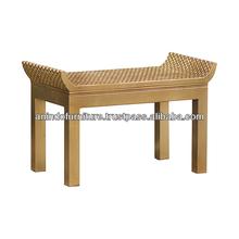 Mahogany Aqua Series Wooden Stool