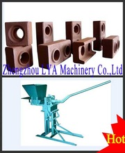 Hot sale! soil/fly ash/lime/clay interlocking brick machine price in stock