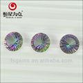 2gn06068a venda quente de boa qualidade redonda corte côncavo do arco-íris natural mystic quartzo
