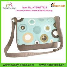 Trendy Durable Custom Printed Woman Canvas Messenger Bag