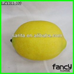 Decorative fake fruit yellow artificial lemons