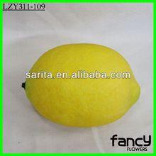 Decorative fake fruit yellow artificial lemons