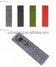 Multi-color wool felt pencil bag
