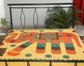 nuevo hecho a mano étnicos diseñador colcha de patchwork hoja de cama