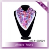 Floral Satin Square Fashion Arabic Turban Hijab Scarf