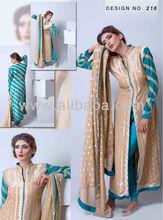 chiffon pure silk banarsi khadi designer a line shirts frocks