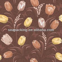 self-adhesive wallpaper big flower Vinyl Wall Covering,environmental friendly wallpaper