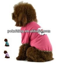 Wholesale Pink/Blue/Purple Cotton Pet Dog T-Shirt Pet Clothes Dog Clothes Pet Products for Dog in XS/S/M/L/XL/XXL MOQ100pcs