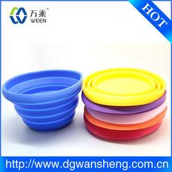 non-stick silicone dog bowl/novelty pet silicon folding bowls/silicon dog foldable bowls